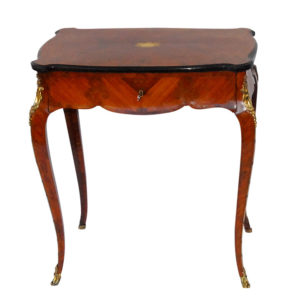 French Inlaid Dressing Table and Mirror