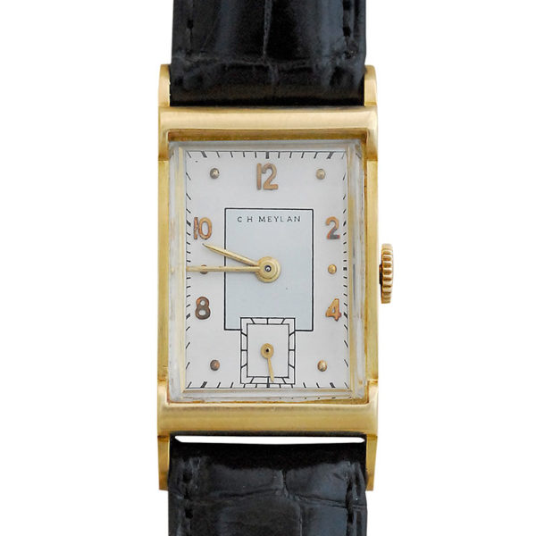 Rectangle Case Mens Wrist Watch by C H Meylan