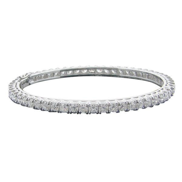5.70 CTW Diamond Hinged Bangle Bracelet