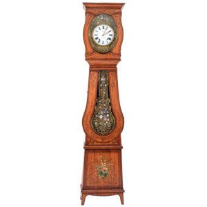 French Morbier Tall Case Clock Signed Les Mines