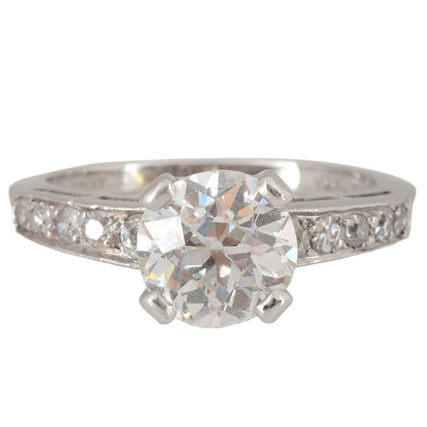 1.69 Carat Center Diamond Ring