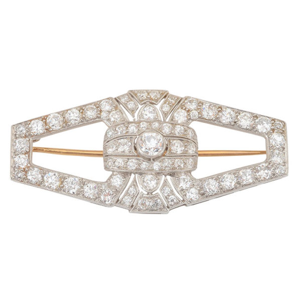 Platinum 2.23 CTW Diamond Brooch
