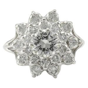 2.76 CTW Diamond Cluster Ring