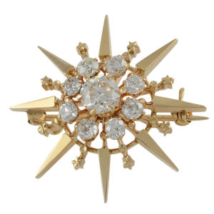 Victorian Brooch with 2.14 CTW Diamonds