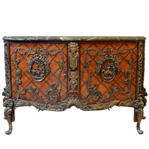 French Louis XVI Style Commode with Marble Top