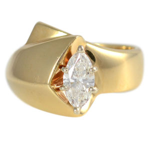 0.65 Carat Marquise Diamond Ring