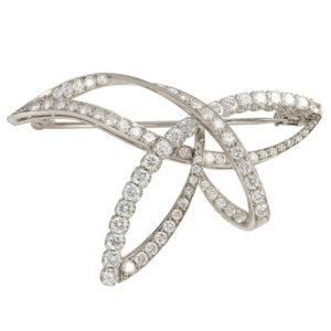 Platinum 2.75 CTW Diamond Scarf Pin