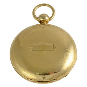 Swiss 18K Yellow Gold Pocket Watch by Jos Johnson Liverpool