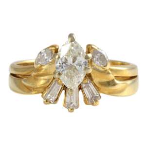 0.65 Carat VVS2 Center Diamond Ring