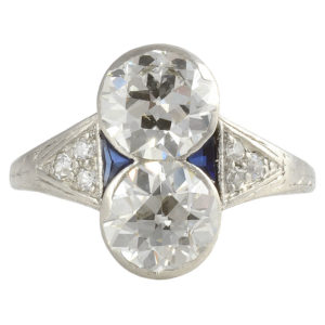 Platinum VVS2-VS2 3.16 CTW European Cut Diamond Ring