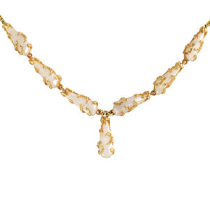 14K Yellow Gold River Pearl Necklace