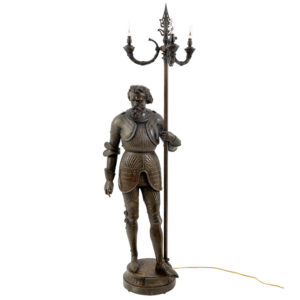Victorian Newel Post Statue Floor Lamp