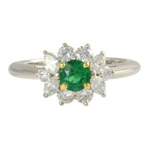 Platinum Emerald and Diamond Ring by Tiffany & Co