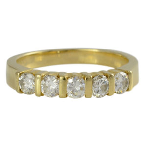 Yellow Gold .50 CTW Diamond Ring