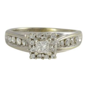 0.85 Carat Total Weight Diamond Ring