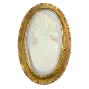 French Coral Cameo Brooch or Pendant
