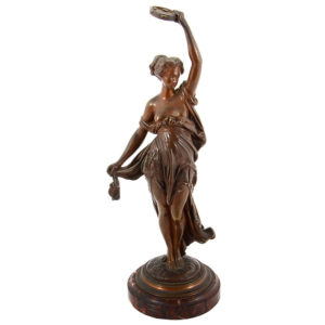 Bronze Sculpture Dancer with Tambourine Signed Carrier Belleuse
