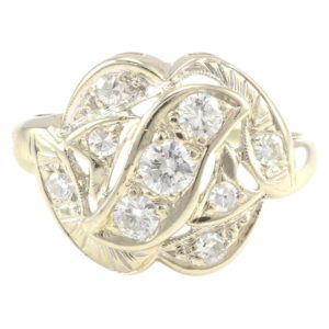 0.55 Carat Total Weight Diamond Ring