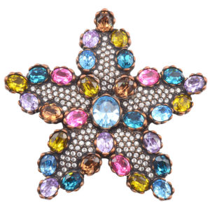 Multicolored Rhinestone Star Pin by Joan Rivers Collection