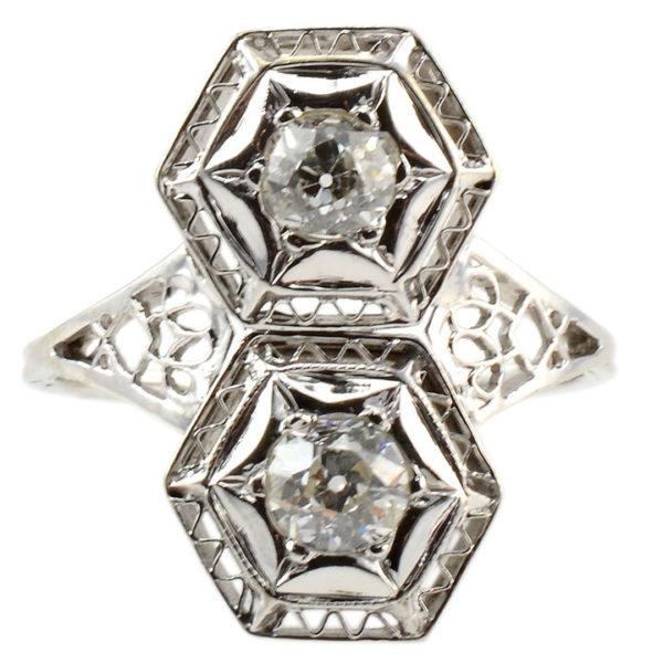 Art Deco 0.70 CTW Diamond Ring