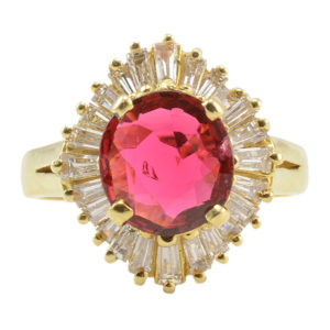 1.68 Carat Spinel Ring With Diamonds
