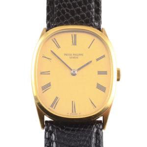 Swiss 18 Karat Yellow Gold Mens Wrist Watch by Patek Philippe