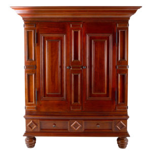 American Walnut Baroque Style Cabinet