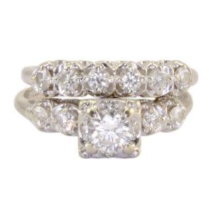 0.45 Carat Center VS2 Diamond Engagement Set