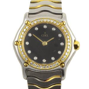 Ebel Ladies Diamond 18K Gold Bezel Wrist Watch