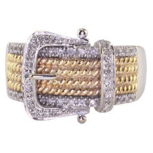 Diamond Buckle Ring