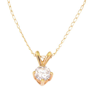 0.25 Carat Diamond Pendant and Chain