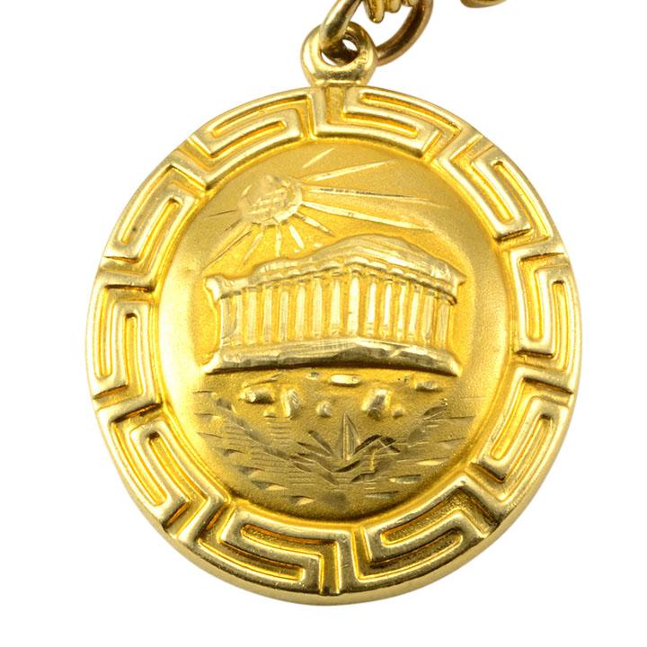 14k Gold Sixteen Charm Bracelet Solvang Antiques