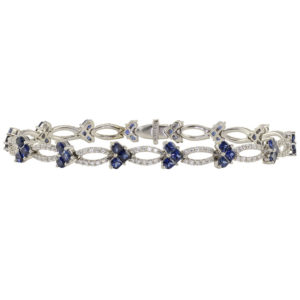 5.74 CTW Sapphire and Diamond Bracelet