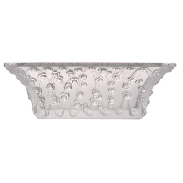 Lalique Trellised Roses Crystal Bowl