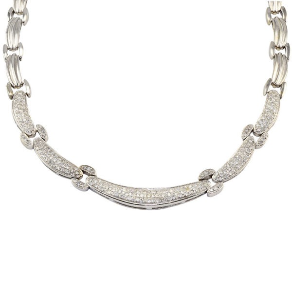 3.60 CTW Diamond Hinged Link Necklace