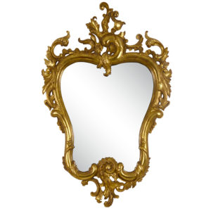 Rococo Style Gilt Wall Mirror