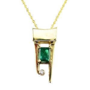 AGL Certified 1.50 Carat Colombian Emerald Pendant