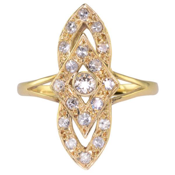 0.70 CTW Diamond Art Deco Design Ring