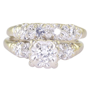 0.43 CTW VS Diamond Wedding Set