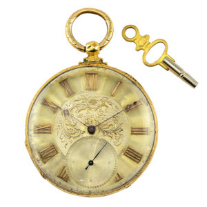 Watches, Parts & Accessories Symbol Of The Brand 18k Solid Gold Neuchatel Swiss Pocket Watch With Chain