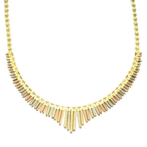 14 Karat Tri Color Gold Necklace