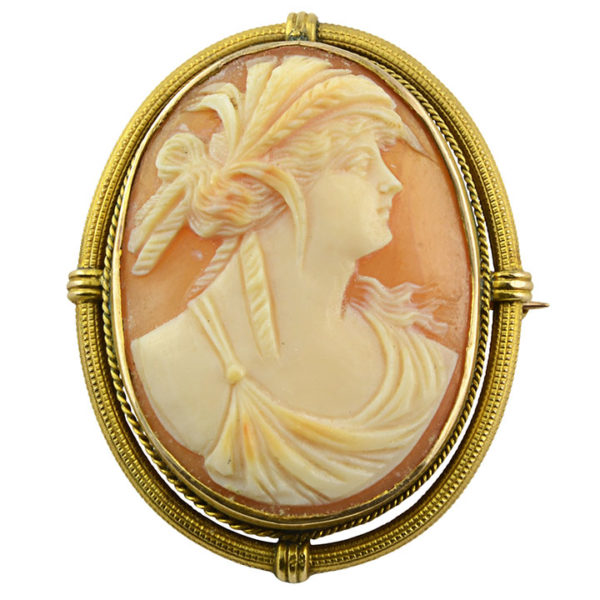 Victorian Shell Cameo Pin or Pendant