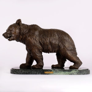French bronze The California Bear after Antoine Louis Barye