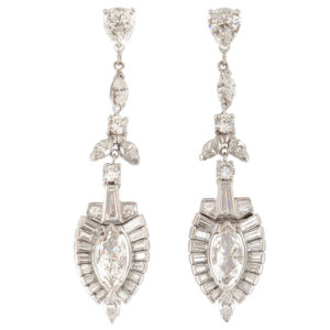 Platinum 6.40 CTW Diamond Earrings