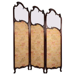 Mahogany Glass Top Dressing Screen