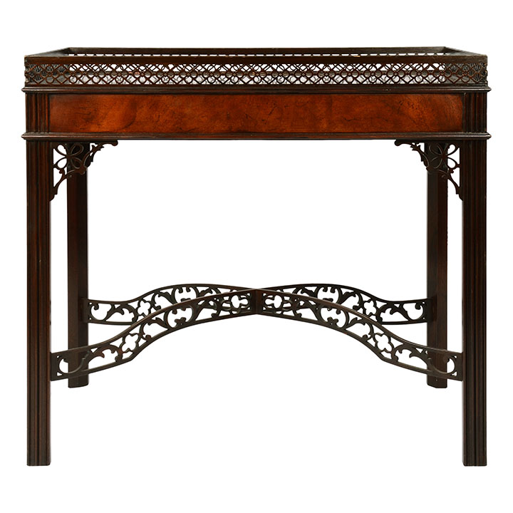 Mahogany Chippendale Style Side Table