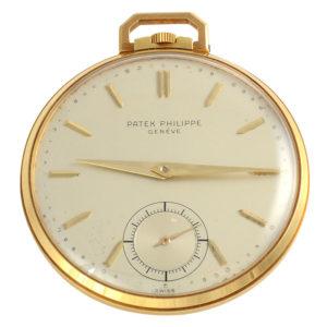 Swiss 18K Yellow Gold Pocket Watch by Patek Philippe