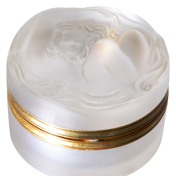 Lalique Daphne Crystal Powder Jar